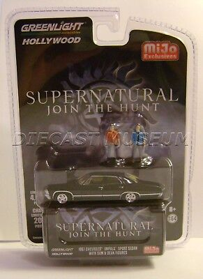 1967 '67 Chevy Impala W/ Figures Supernatural Mijo Exclusives Greenlight 2018