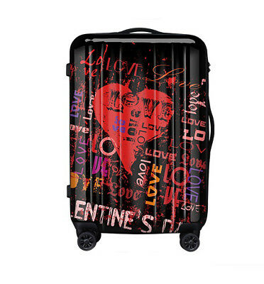 D225 Lock Universal Wheel Black Creative Travel Suitcase Luggage 28 Inches W