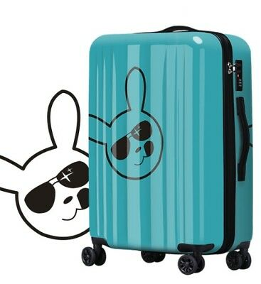 D814 Fashion Rabbit Universal Wheel ABS+PC Travel Suitcase Luggage 28 Inches W