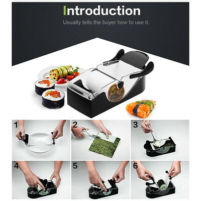 Rice Sushi Roll Maker Perfect Cutter Making Machine Home Kitchen Tool Brand New
