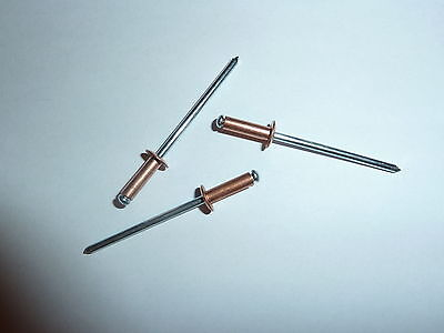 3mm x 6mm Standard Open Copper/Steel Pop Rivets Pkt of 500