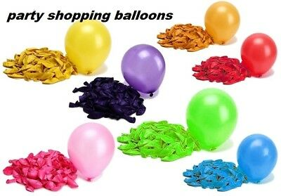 10X METTALIC PLAIN BALOON BALLONS helium BALLOONS Quality Party Birthday Wedding