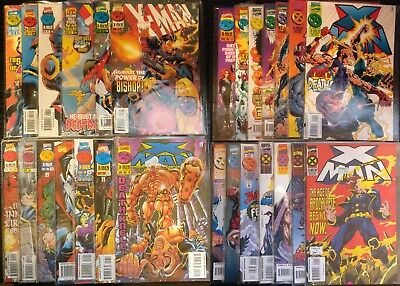 X Man (27 issues). Marvel, X men, Cable. Issues 1-10, 12-28