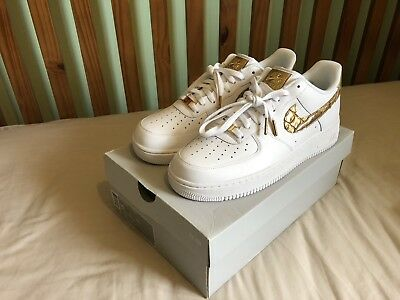 NIKE AIR FORCE 1 CR7 GOLDEN PATCHWORK Nike air force 1 07 sneakers men AQ0666 100 white [185]