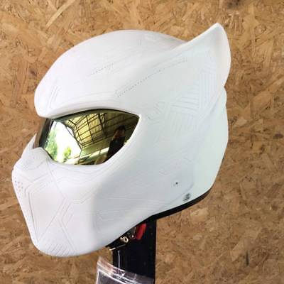New Fancy handmade White Tiger motorcycle DOT& ECE Real-helmet size S-XXL