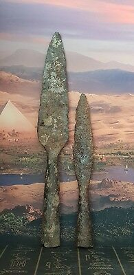 Excellent Celtic Iron Age Socketed Spears X 2