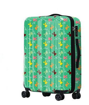 D852 Lock Universal Wheel Green Rabbit Travel Suitcase Cabin Luggage 24 Inches W