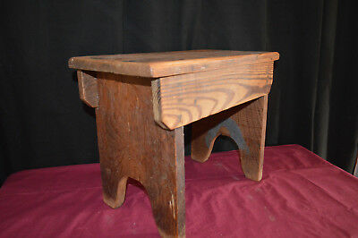 Vintage Wooden Foot Stool Step milking stool plant stand
