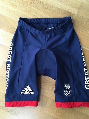 Genuine Adidas Team Issue Great Britain GB Womens Padded Cycling Shorts ~ XS