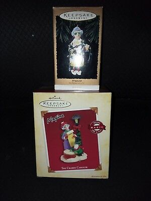Pair of Maxine Christmas Ornaments Hallmark -lighted and she talks in the  one - 2 HALLMARK MAXINE Ornaments - $12.00 PicClick