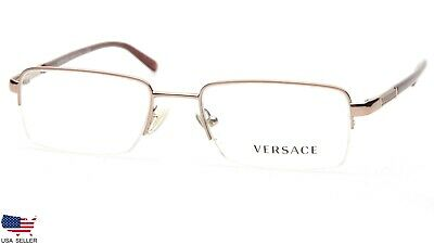 NEW W/ TAG VERSACE VE 1066 1053 COPPER BRONZE EYEGLASSES 50-18-135 B30mm Italy