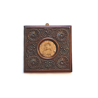 Antique Wooden Hand Carved Photo Frame