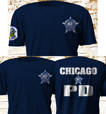 New Chicago Police Department CPD Fire Department Military Navy T-Shirt S-4XL
