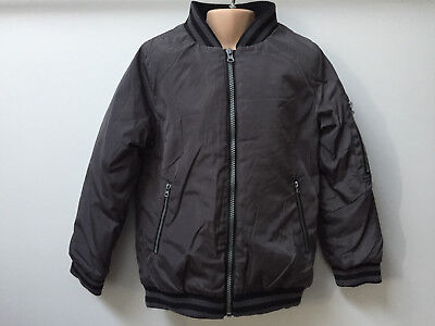 Grey Urban Boys Bomber Jacket with Zip Pocket on Arm for Boy Age 3 - 8 years old