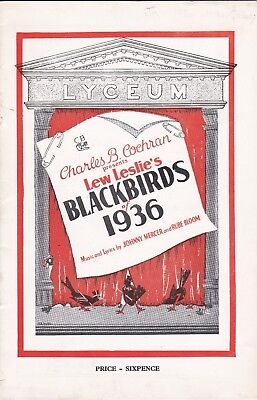 """BLACKBIRDS OF 1936"" - Lyceum Theatre London.Nicholas Bros. - Lavaida Carter"