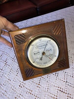 Vintage 1940's 1950's ? Art Deco Style Weather Barometer Thermometer