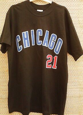 Sosa - Chicago Cubs 21 - Baseball - Lee Sport - T-Shirt - New With Tags - Size L