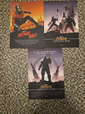 Marvel Avengers Infinity War Official Odeon Posters x4 Inc captain marvel