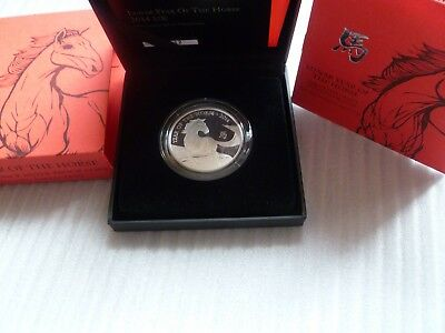 2014 ROYAL MINT BRITISH LUNAR HORSE £2 TWO POUND SILVER PROOF 1oz COIN BOX & COA
