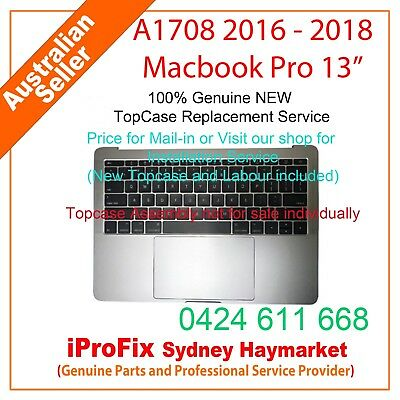 "NEW Keyboard For Apple Macbook Pro 13"" Touch Bar A1708 2016-2018 Topcase"