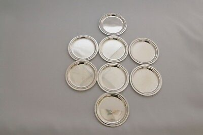 Set of 8 solid silver Coasters  1960
