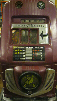 Mills 5 cent Token Bell Slot Machine
