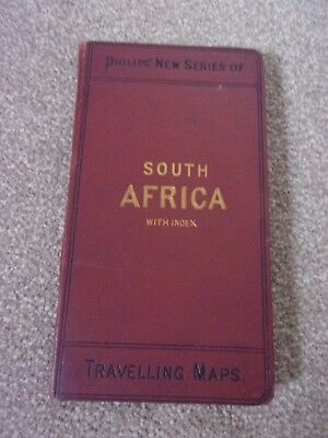 Philips New Series of Travelling Maps. Linen Map of Southern Africa 1891