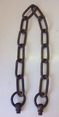 "Antique 23"" Long Solid Brass Hanging Lamp Chain Pan Chandelier Part"