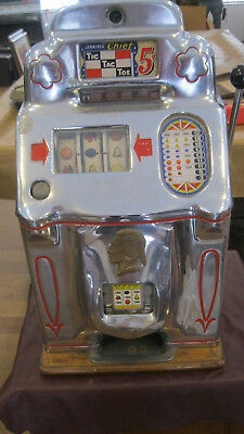 Jennings Chief 5 cent Tic Tac Toe Slot Machine
