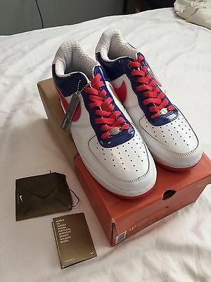 the latest 8a656 54af1 New Nike Air Force 1 Premium SOUTH KOREA WORLD CUP WHITE ROYAL BLUE RED 11