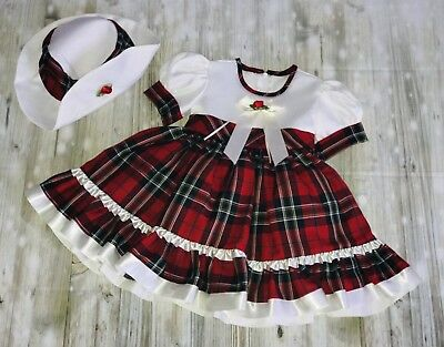 Baby Girls Christmas Dress  Frilly Age 3-6 6-Months Romany Spanish