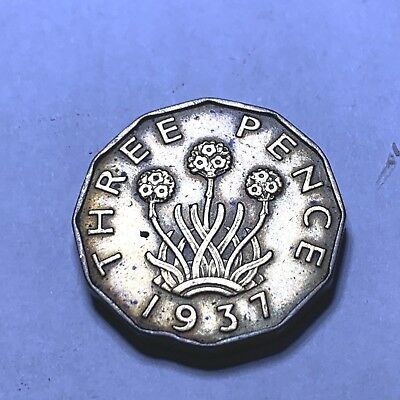 113 - 3  Great Britain 1937 Three Pence Coin
