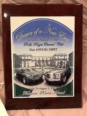 Rolls-Royce Owners Club RROC 2003 National Meet Plaque - Large 9x12