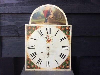 Antique Longcase Clock Dial/face.