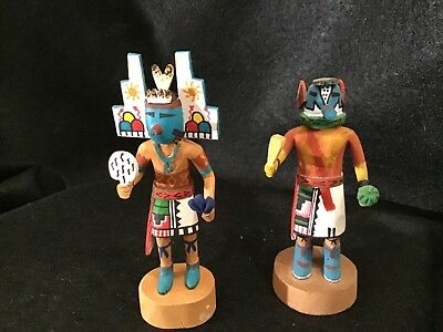 Lot# 1305. Pair of Native American Miniture Kachina Dolls