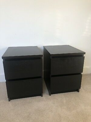 Pair Of Ikea Malm Bedside Tables