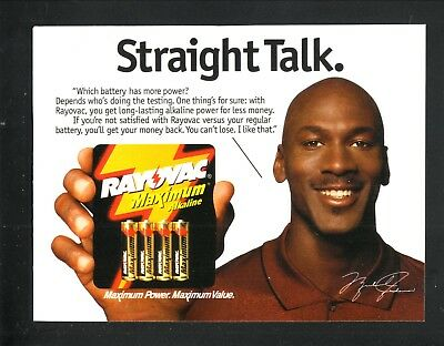 Michael Jordan--Rayovac Batteries-1998 Magazine Advertisement