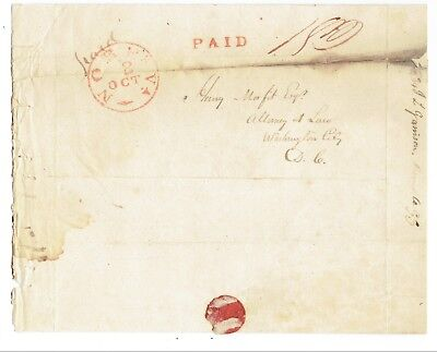 Henry Mason Morfit 1832 Letter-Was U.s.emissary To The Republic Of Texas In 1836