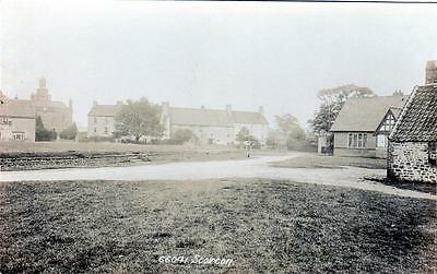Scorton Nr Richmond (A) unused Real Photo old postcard early Frith