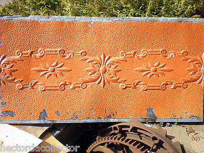 25 x 48 Antique Ceiling Tin Tile Pumpkin Cabinet Doors Shabby Chic Cottage