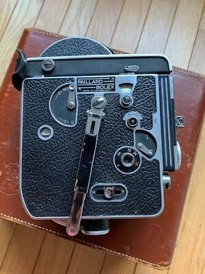Bolex H 16 reflex  Camera body with case and handle