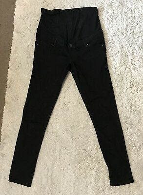 Topshop Women's Leigh Maternity Black Over Bump Skinny Jeans, 10 L32