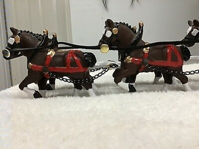 Vintage cast iron, 8-Clydesdales, antique toys, collectible horse drawn