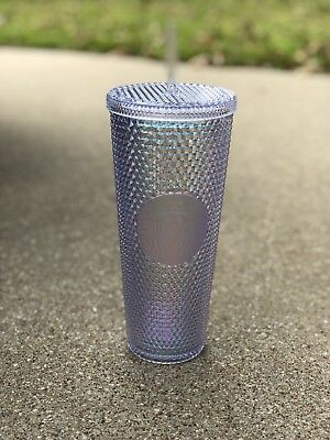 Starbucks 2018 Holiday Tumbler Iridescent Rainbow Cold Cup NEW