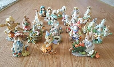 Lot Of 20 My Blushing Bunnies Halloween Fall Easter vintage 1995-1999