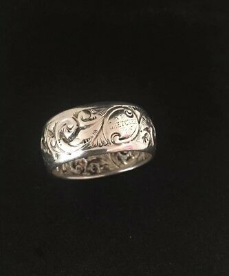 Small Antique Solid Silver Napkin Ring c1899