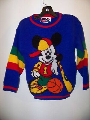 Vintage Mickey Mouse sweater child size 4-5
