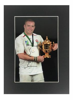 Phil Vickery Signed Photo Display, Rugby World Cup 2003 Autograph *rare* + *coa*