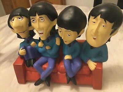 Beatles Coin Bank / money box Unusual Comic Figures, Statue 1980s Mint Cond Rare