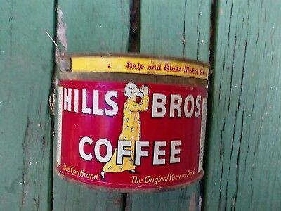 1lb. Vintage Hills Brother's key wind coffee tin can